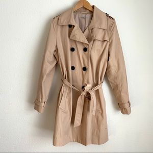 Gap double breasted tie waist trench coat
